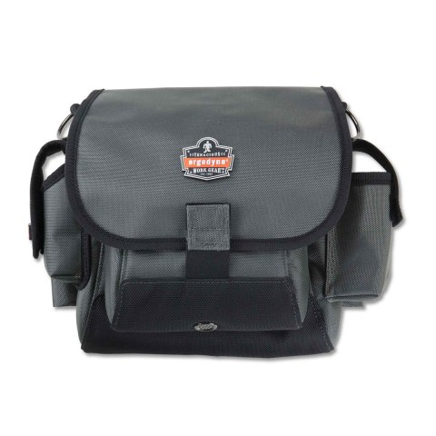 Ergodyne® 5518 Topped Tool Pouch w/Loop Attachment - Gray -11in x 4.5in x 11in