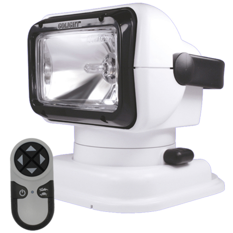GoLight® Radioray® Remote Control Searchlight, Suction and Permanent Mount