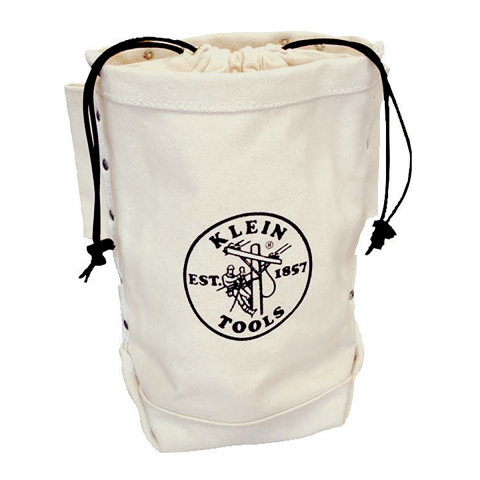 Klein Canvas Extra Tall Bolt and Nut Bag - Drawstring Closure - Tunnel Loop