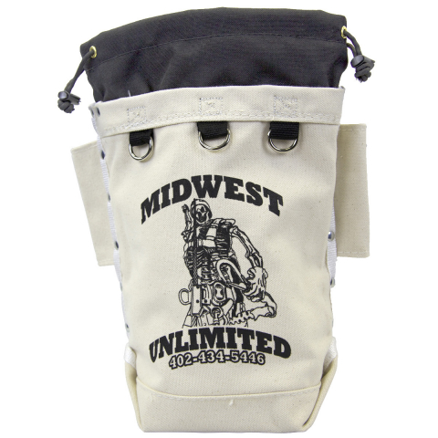 Midwest Unlimited X-Tall Bolt & Nut Bag - Drawstring - Tether Pts - Tunnel Loop