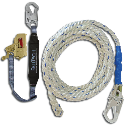 5/8in Polyester Lifeline + 5/8 in Rope Grab & Lanyard Combo