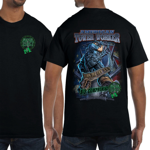 """Midwest Unlimited American Tower Worker """"No Compromise"""" T-shirt"""