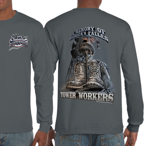 Midwest Unlimited - American Tower Worker - America's Fallen - Charcoal
