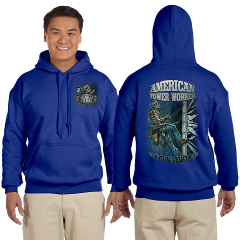 Midwest Unlimited - American Tower Worker - High Strung Sweatshirt - Royal