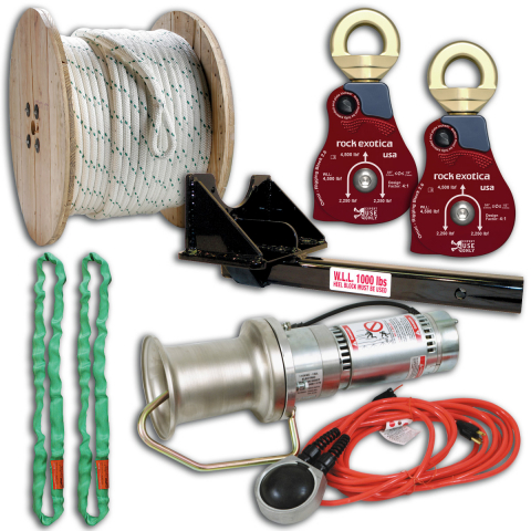 Midwest Unlimited Deluxe Capstan Package w/Straight Mount & Rock Exotica Blocks