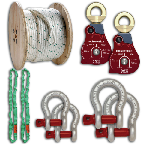 Midwest Unlimited Rigging Kit w/Rock Exotica Blocks